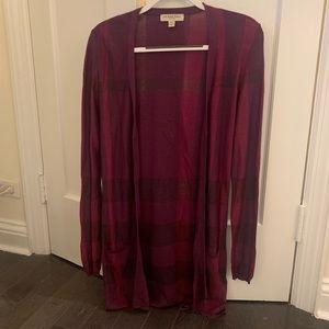 Burberry Check Cardigan. Size M.